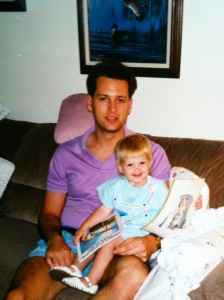 Me with Molly 22 years ago