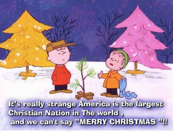 "It's really strange America is the largest Christian nation in the world, and we can't say ""MERRY CHRISTMAS!"""