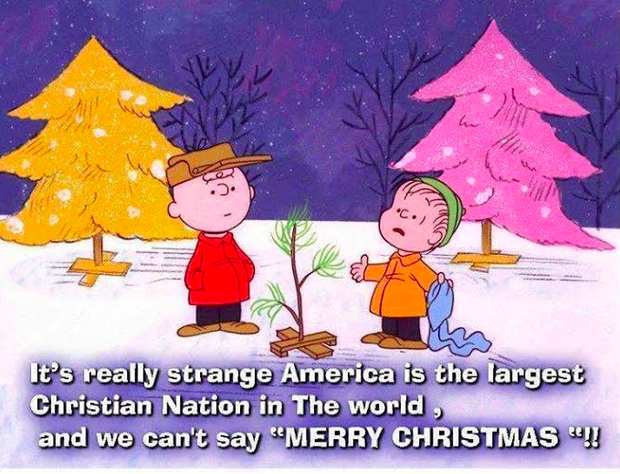 """It's really strange America is the largest Christian nation in the world, and we can't say """"MERRY CHRISTMAS!"""""""