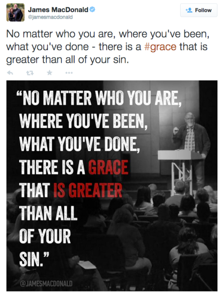 No matter who you are, where you've been, what you've done - there is a #grace that is greater than all of your sin.