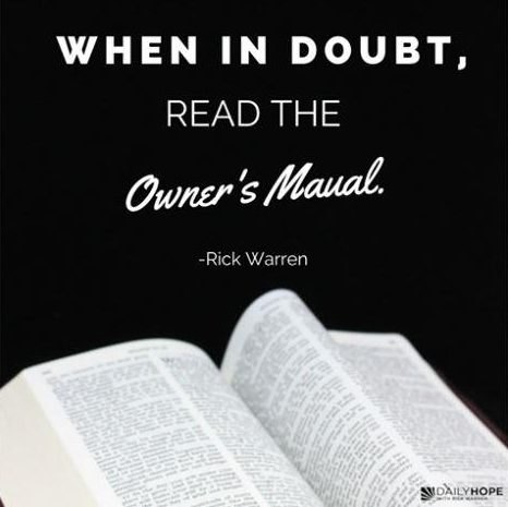 When in doubt, read the Owner's Manual.