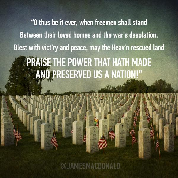 Remembering those who laid down their lives so that we would live free.