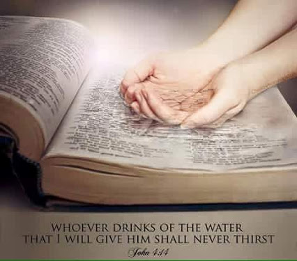 Whoever drinks of the water that I will give him  shall never thirst. - John  4:14