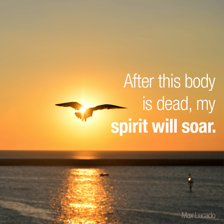 After this body id dead, my spirit will soar.